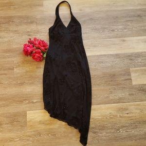 Rampage Black Halter Asymmetrical Cocktail Dress S
